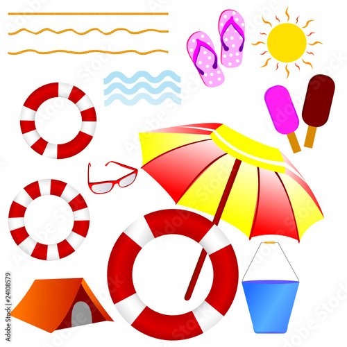 photo beach stuff vector illustration draganm beach stuff 400x400