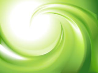 Abstract green swirl