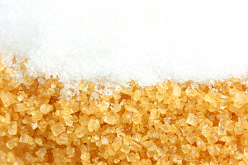 Crystalline sugar and granulated sugar or foods and drinks.