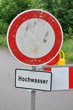 Hochwasser Warnschild poster