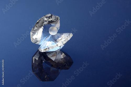 Ostrica con perla in cristallo - 24113543