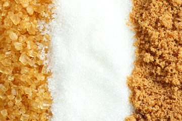 Suger 3 type, brown, crystalline and granulated.