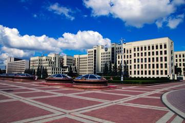 summer day belorussian landscape Minsk government house