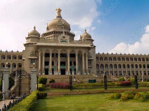 Leinwandbild Motiv The Vidhana Soudha, in Bangalore, India.