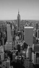 New York City Panorama black & white
