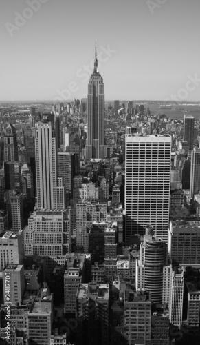 New York City Panorama black & white - 24117700