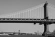 New York City bridge black & white