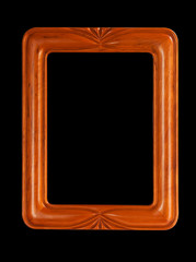 Simple carved picture frame