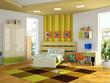 Modern interior of the childroom