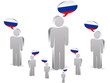 group of russian people