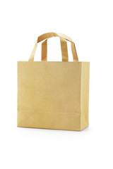 Brown reusable paper bag