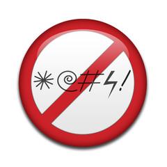 Chapa prohibido insultar