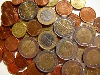 Pièces de monnaie d'euros