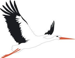 Storch fliegt II Outline