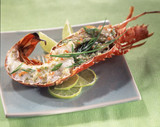 grilled spiny lobster with sauce chien