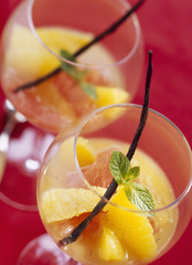 grapefruit salad with orange,vanilla and vodka