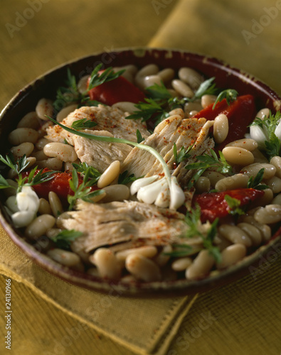 skate and white bean salad