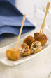 deep-fried cheese,raisin and ham balls