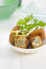 goat's cheese and caramelized apple croquettes