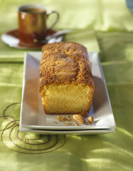 almond and orange-flavored sponge cake
