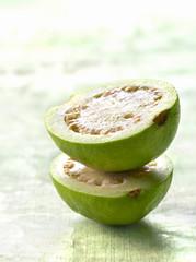 guava cut in half