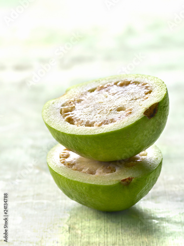 guava cut in half