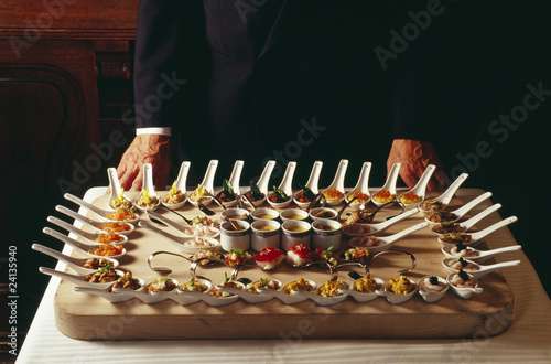 buffet with spoons