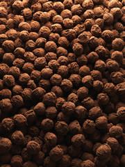 overall of chocolate truffles