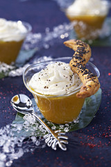 mango and jasmin cream cappuccino