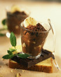 spicy chocolate and banana mousse