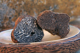 brumale truffle and black truffle from the perigord