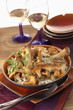 chicken and mushrooms in riesling suace