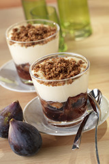 fig crumble verrines