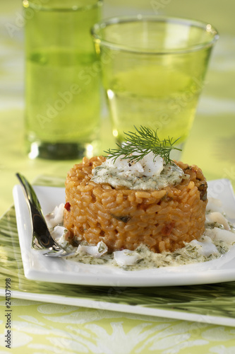 fish risotto timbale