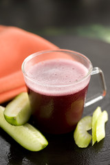 celery,cucumber and beetroot smoothie