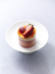summer fruit and apricot mini entremets