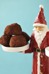 father christmas and chocolate truffles