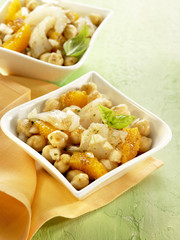 salt-cod with chickpeas and orange