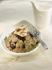 risotto with foie gras and boletus mushrooms
