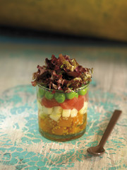 raw vegetable verrine