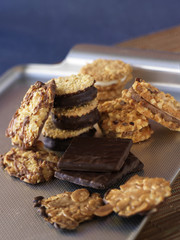 cereal and chocolate cookies