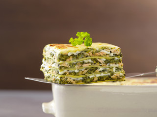 salmon and sorrel lasagnes