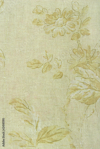 linen fabric with flowers background