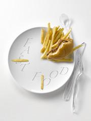 fast-food clock-plate