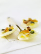 white chocolate palets with crystallized orange and dried fruit
