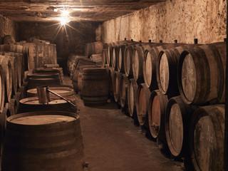 barrels of châteauneuf-du-pape château rayas