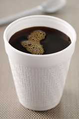 plastic cup of coffee