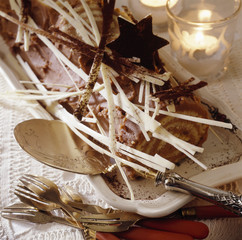 chestnut rolled log cake