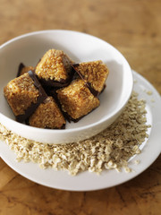 oat ,toffee and chocolate delicacies