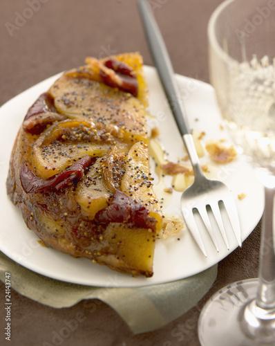 apple and duck magret savoury tatin